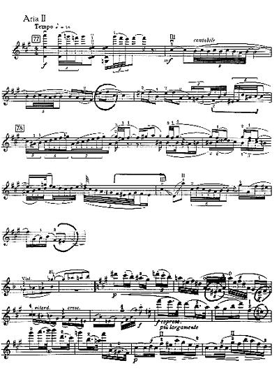 Incipit Aria II, Brahms, Concerto, Adagio, Batt.52, ed.Schott (Vl.e Pf.)