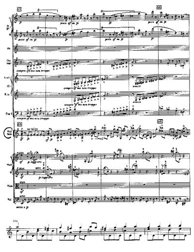 Stravinsky, n. 65 / Bach, Sonata III, Fuga, Batt.188, ed. Bärenreiter